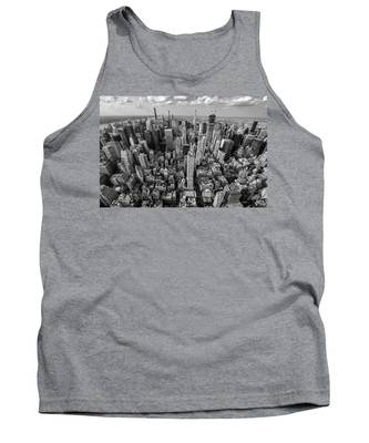 New York City Black White Tank Top