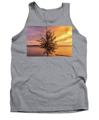 Percy Priest Lake Sunset Young Tree Tank Top