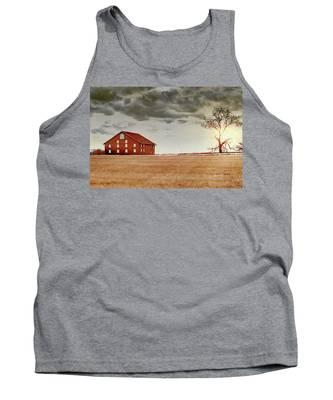 Sunset Barn Tank Top