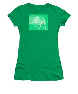 Green Bull Negative Women's T-Shirt
