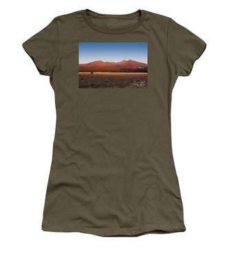 Women's T-Shirt featuring the photograph San Francisco Peaks Sunrise by Jemmy Archer