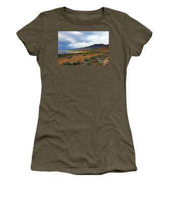 Women's T-Shirt featuring the photograph Antelope Island by Jemmy Archer