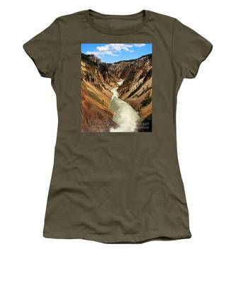 Women's T-Shirt featuring the photograph Grand Canyon Of Yellowstone by Jemmy Archer