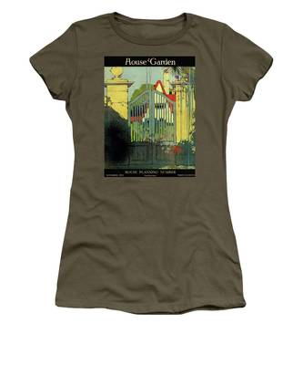 A House And Garden Cover Of A Gate Women's T-Shirt