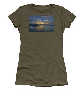 a joyful sunset at Tel Aviv port Women's T-Shirt