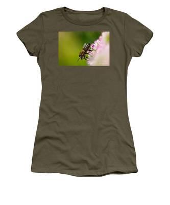 Bee Sitting On A Flower Women's T-Shirt