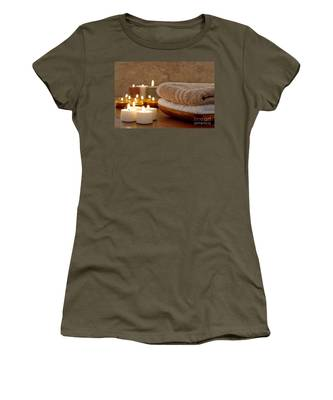Candles And Towels In A Spa Women's T-Shirt