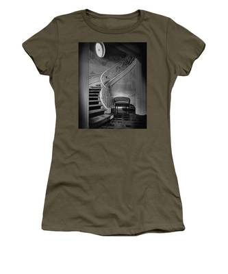 Curving Staircase In The Home Of  W. E. Sheppard Women's T-Shirt