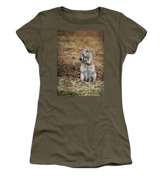 Women's T-Shirt featuring the photograph Doggie Snack by Jemmy Archer