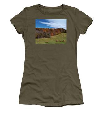 Women's T-Shirt featuring the photograph Fall On The Farm by Jemmy Archer