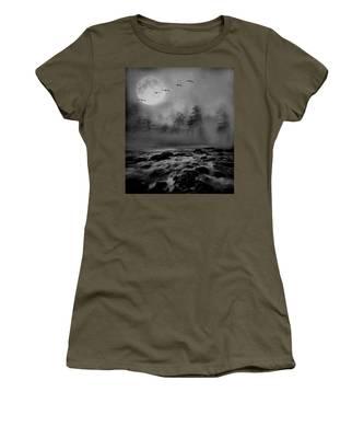 First Snowfall Geese Migrating Women's T-Shirt