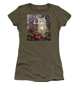 Front Yard Kitty Women's T-Shirt