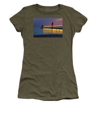 Grand Haven South Pier Lighthouse Women's T-Shirt