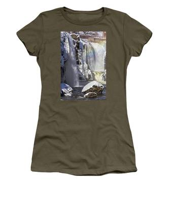Great Falls And A Rainbow Women's T-Shirt