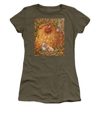 Hen And Chicks Women's T-Shirt