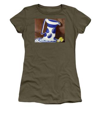 Women's T-Shirt featuring the painting Fresh Lemonade by Laurie Lundquist