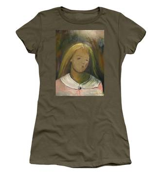 Women's T-Shirt featuring the painting Kelly by Laurie Lundquist