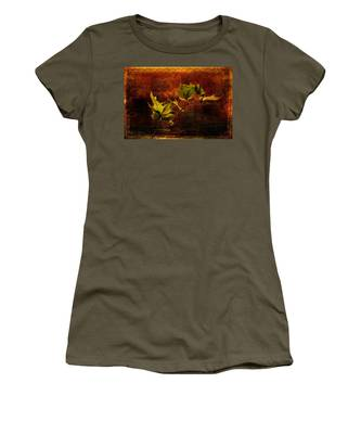 Leaves On Texture Women's T-Shirt