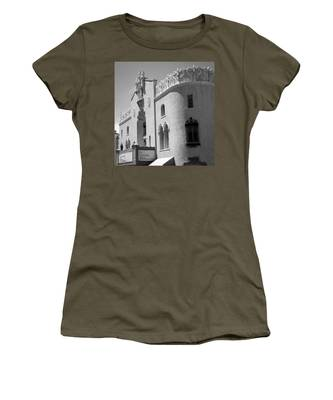 Women's T-Shirt featuring the photograph Lensic Bw by Jemmy Archer