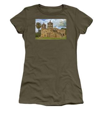 Women's T-Shirt featuring the photograph Mission Concepcion by Jemmy Archer