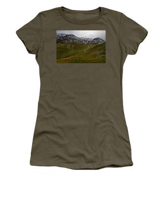 Mountainscape With Snow Women's T-Shirt