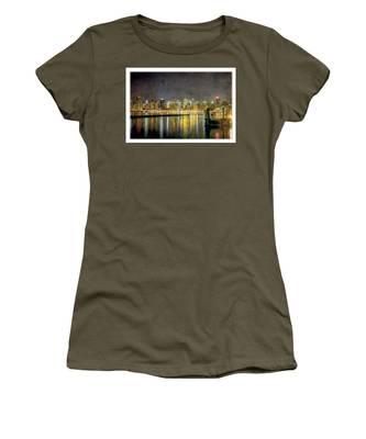 Nyc At Night Women's T-Shirt