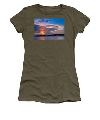 Women's T-Shirt featuring the photograph Ocean Isle Sunset by Jemmy Archer