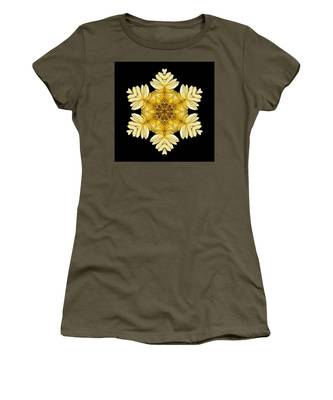 Pale Yellow Gerbera Daisy Vii Flower Mandalaflower Mandala Women's T-Shirt