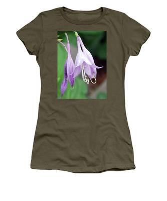 Purple And White Fuchsia Women's T-Shirt