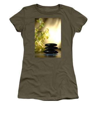 Stone Cairn And Orchids Women's T-Shirt