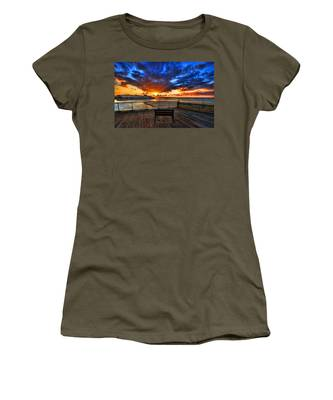 sunset at the port of Tel Aviv Women's T-Shirt