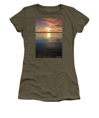 Sunset Over Puget Sound Women's T-Shirt