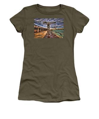 Tel Aviv Port At Winter Time Women's T-Shirt