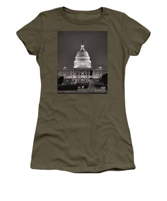 United States Capitol At Night Women's T-Shirt