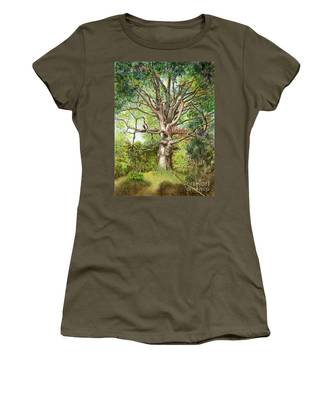 Women's T-Shirt featuring the painting Wisdom by Nancy Cupp