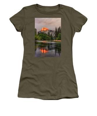 Golden Light On Halfdome Women's T-Shirt