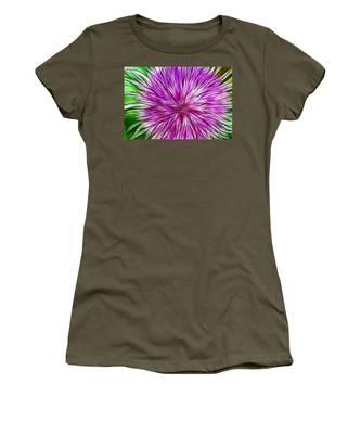 Purple Flower Fractal Women's T-Shirt