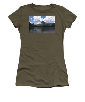 Rowboat At Many Glacier Women's T-Shirt