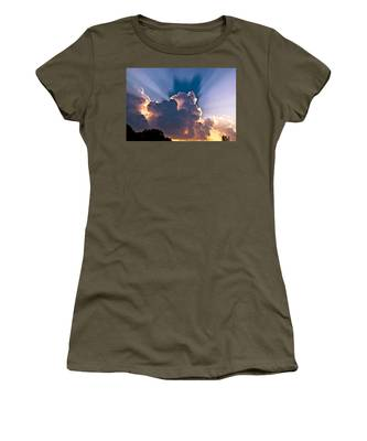 Sun Rays And Clouds Women's T-Shirt