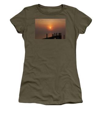 Sunrise On The River Women's T-Shirt