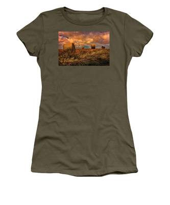 Women's T-Shirt featuring the photograph The Hayfield by Chris Lord