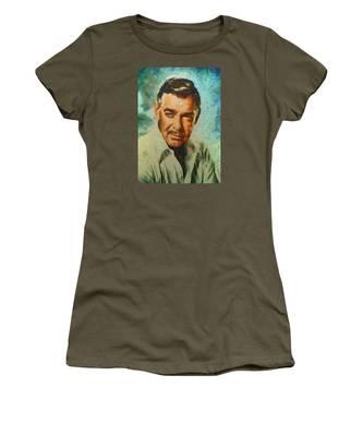 Portrait Of Clark Gable Women's T-Shirt