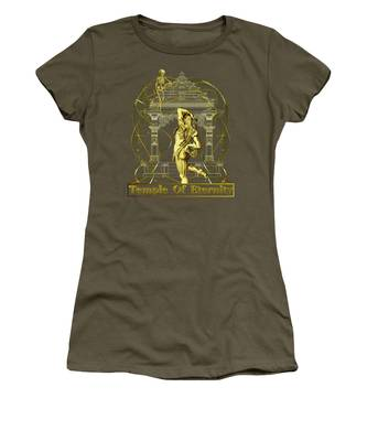 Women's T-Shirt featuring the digital art Temple Of Eternity by Robert G Kernodle