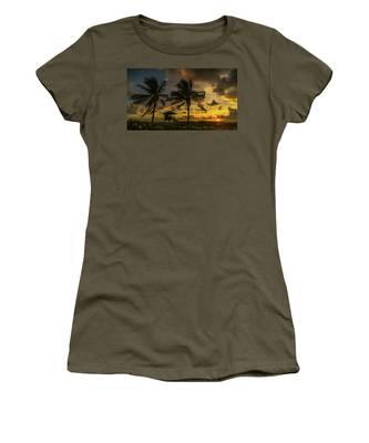 Two Palm Sunrise Delray Beach Florida Women's T-Shirt