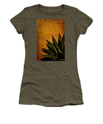 Women's T-Shirt featuring the photograph Adobe And Agave At Sundown by Chris Lord