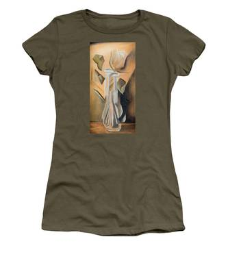 Women's T-Shirt featuring the painting Broken Rose by Break The Silhouette