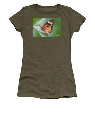 Butterfly On The Edge Of Leaf Women's T-Shirt
