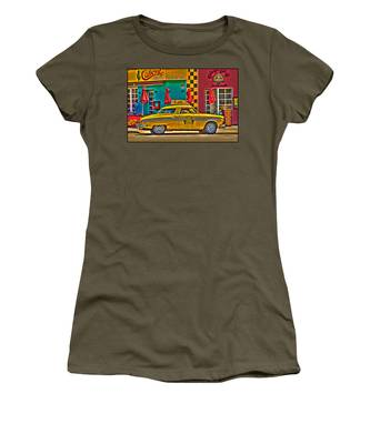 Women's T-Shirt featuring the photograph Caliente Cab Co by Chris Lord