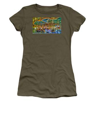 Carousel At Peddlers Village Women's T-Shirt