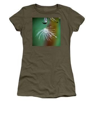 Dandelion Water Drop Macro 2 Women's T-Shirt
